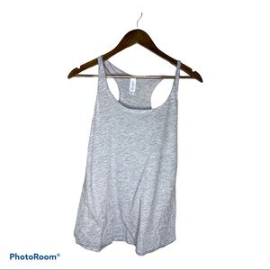 OVER THE LIMIT HEATHER GREY Racerback TANK TOP S